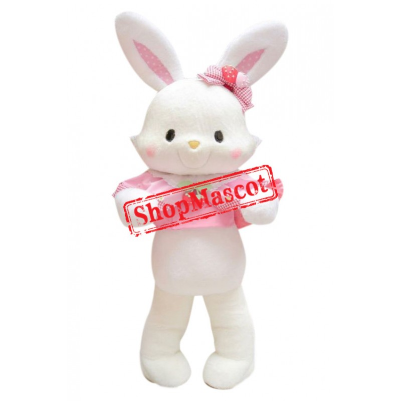 Pink & White Rabbit Mascot Costume