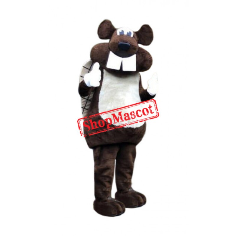 Realistic Friendly Beaver Mascot Costume