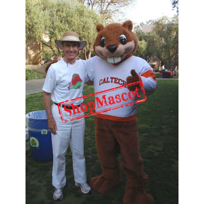Superb Friendly Beaver Mascot Costume