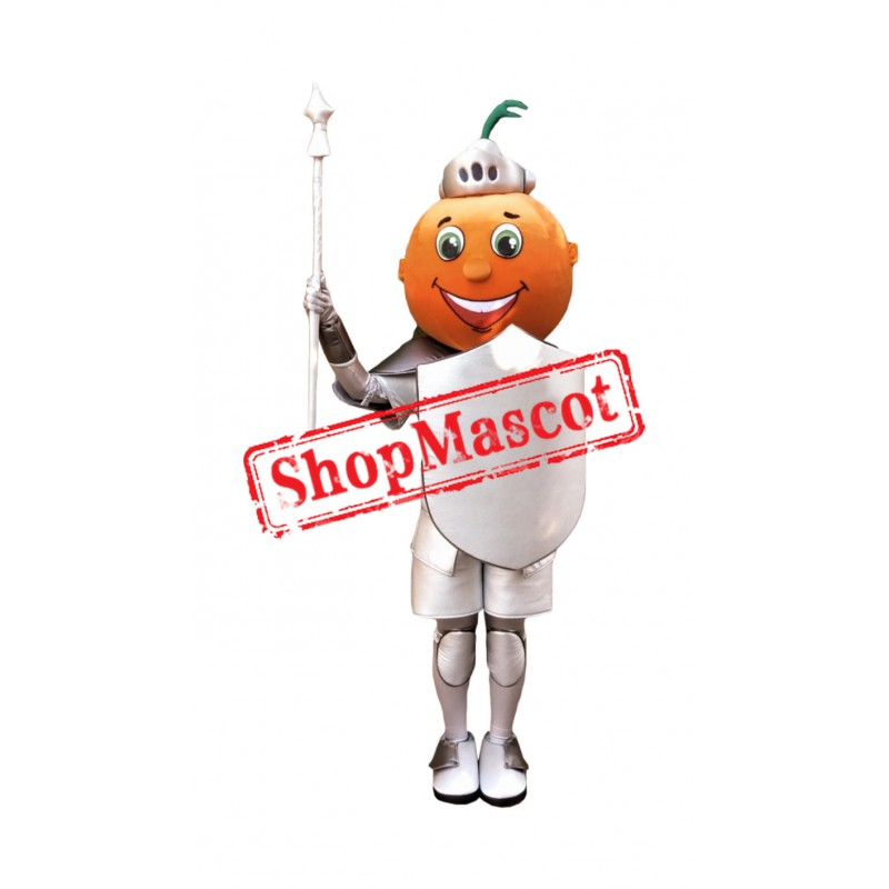 Orange Knight Mascot Costume