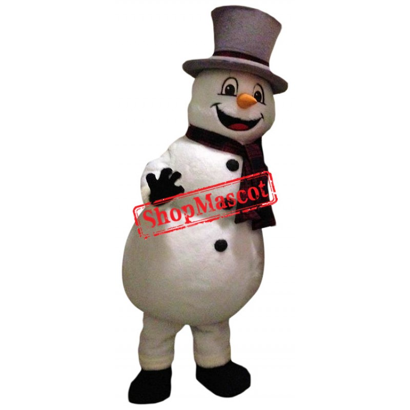 Affordable Friendly Snowman Mascot Costume