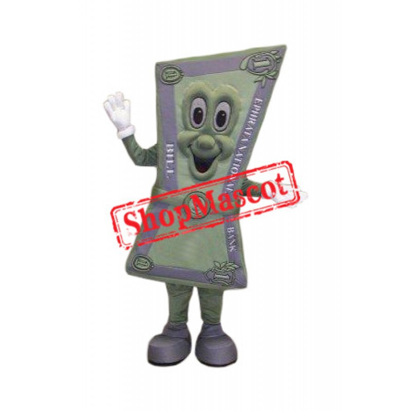 Happy Dollar Bill Mascot Costume