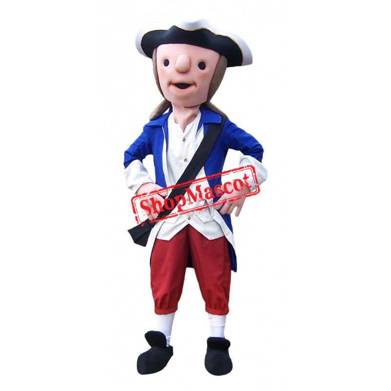 Cute Patriot Mascot Costume