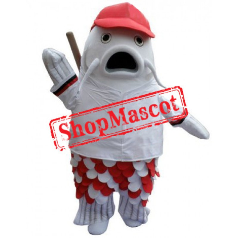 White Fish Mascot Costume