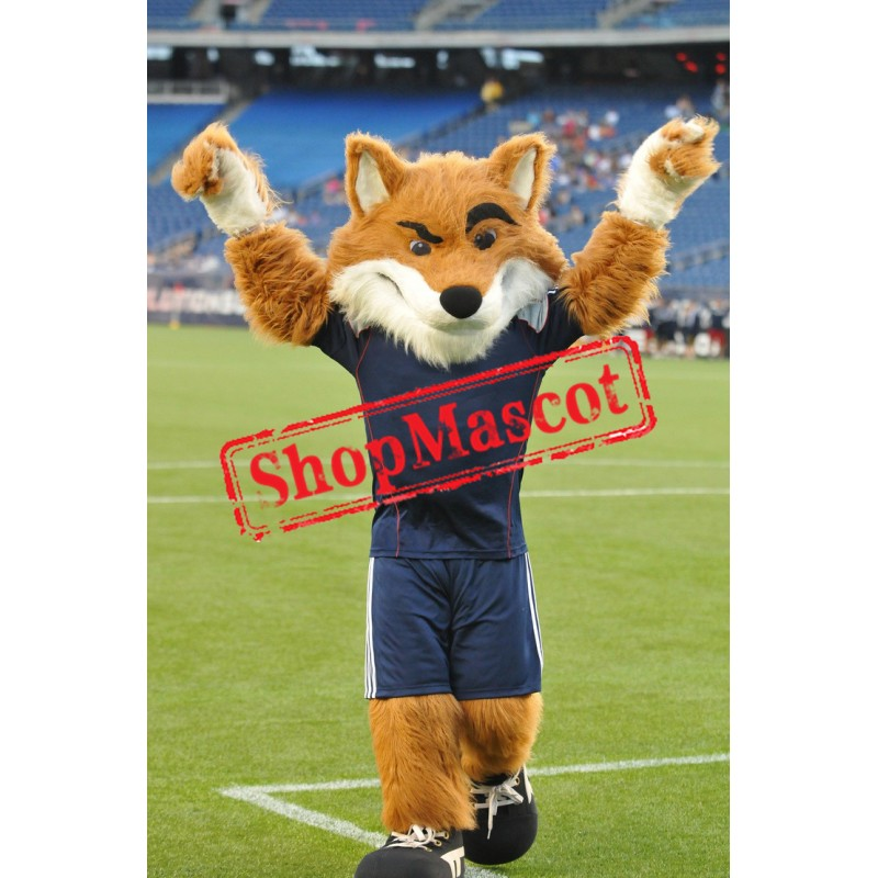 Power Sport Fox Mascot Costume