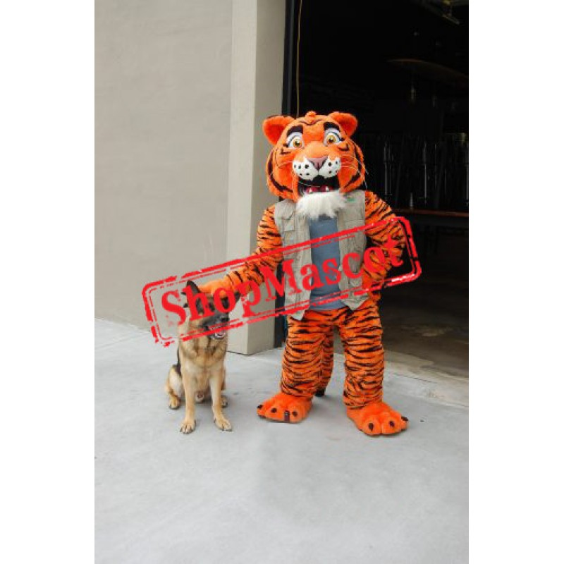 Superb Power Tiger Mascot Costume