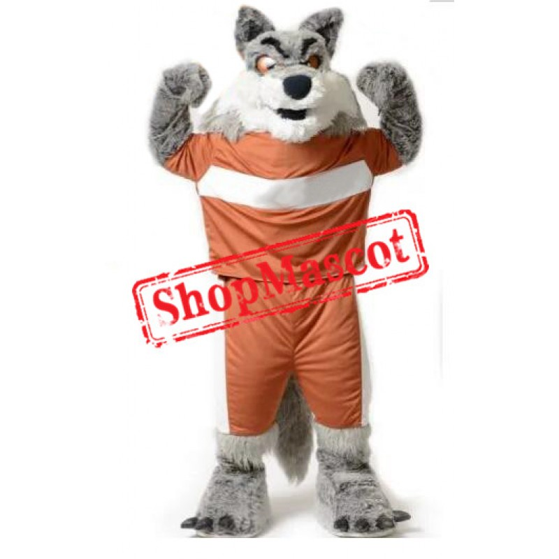 Superb Power Wolf Mascot Costume