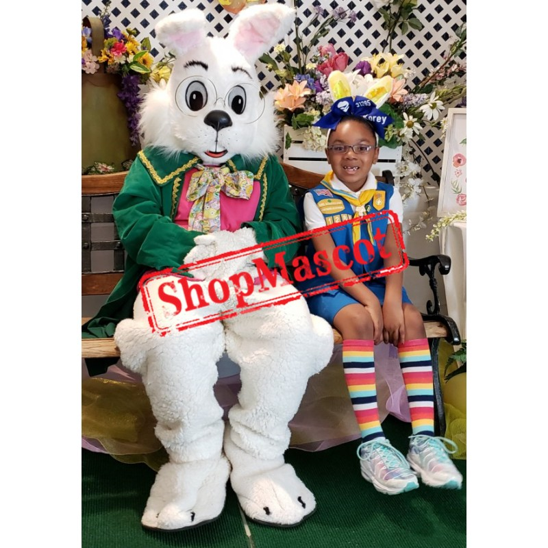 Easter Green Wendell Rabbit Mascot Costume