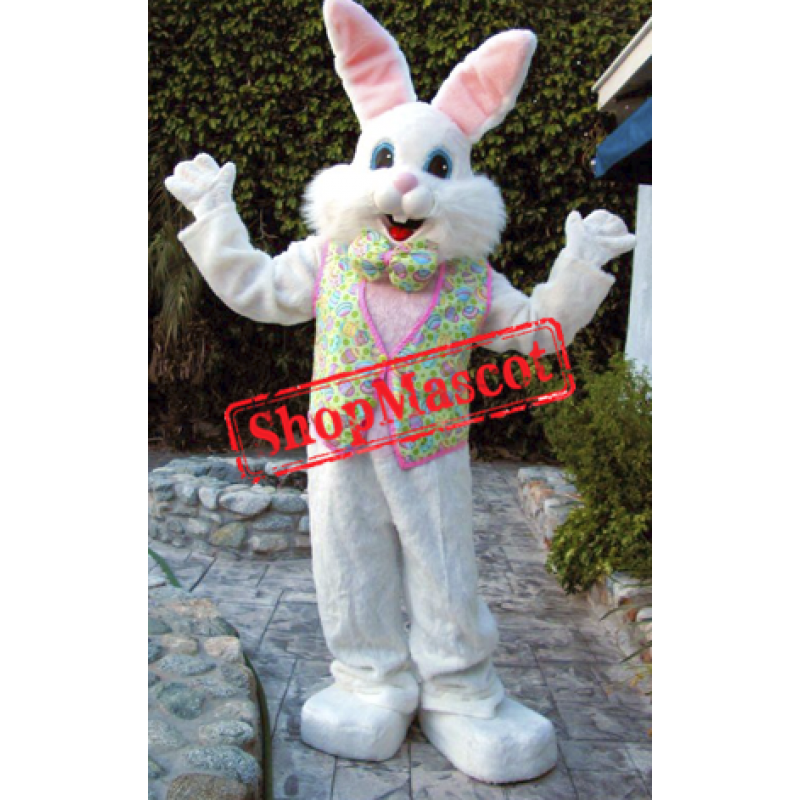 Happy Lightweight Easter Bunny Mascot Costume