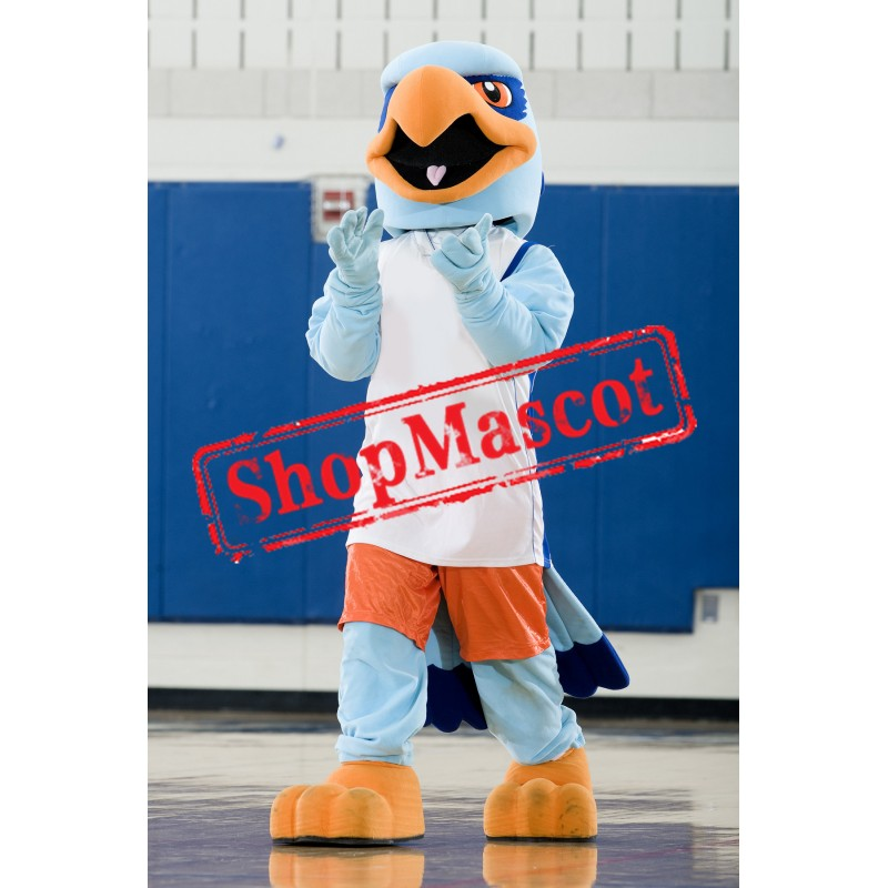 Blue Sport Eagle Mascot Costume