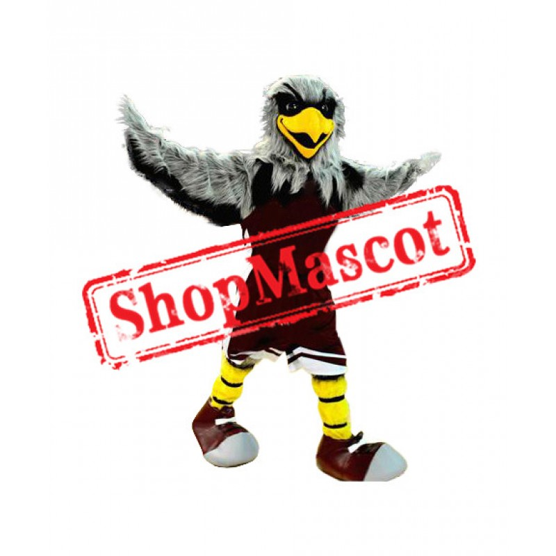 Grey Sport Eagle Mascot Costume