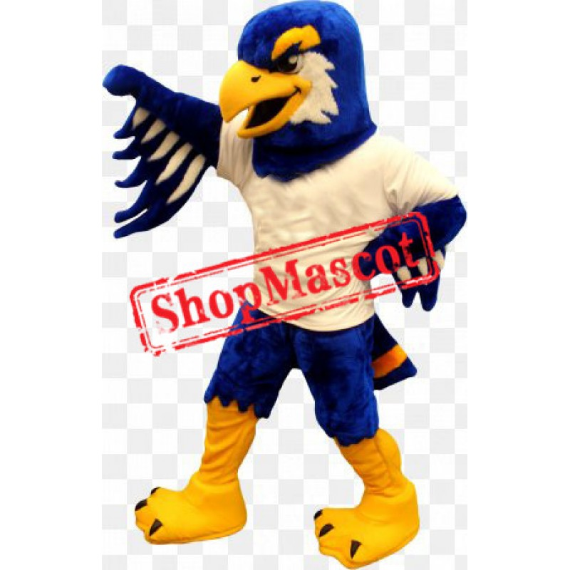 Blue & White Fierce Eagle Mascot Costume