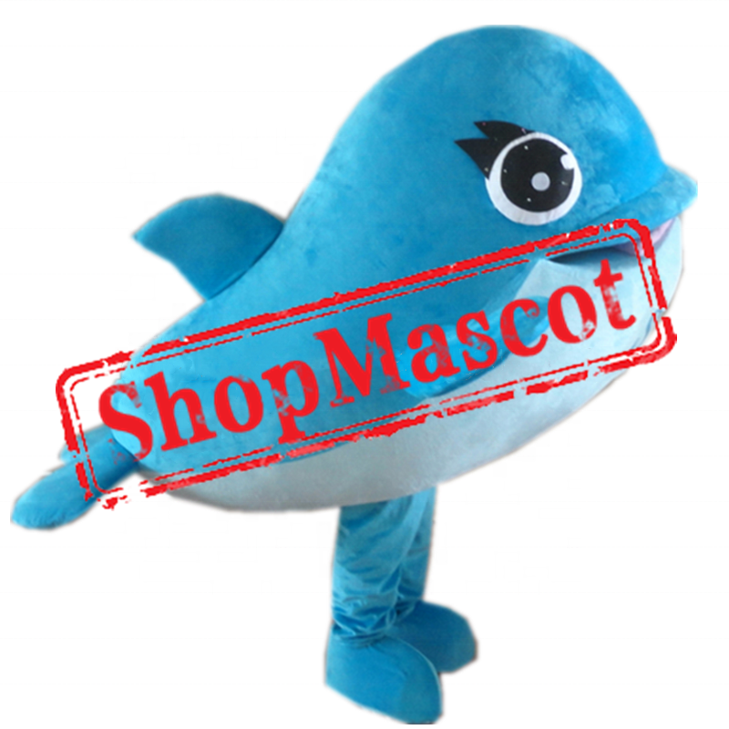 Affordable Blue Whale Mascot Costume