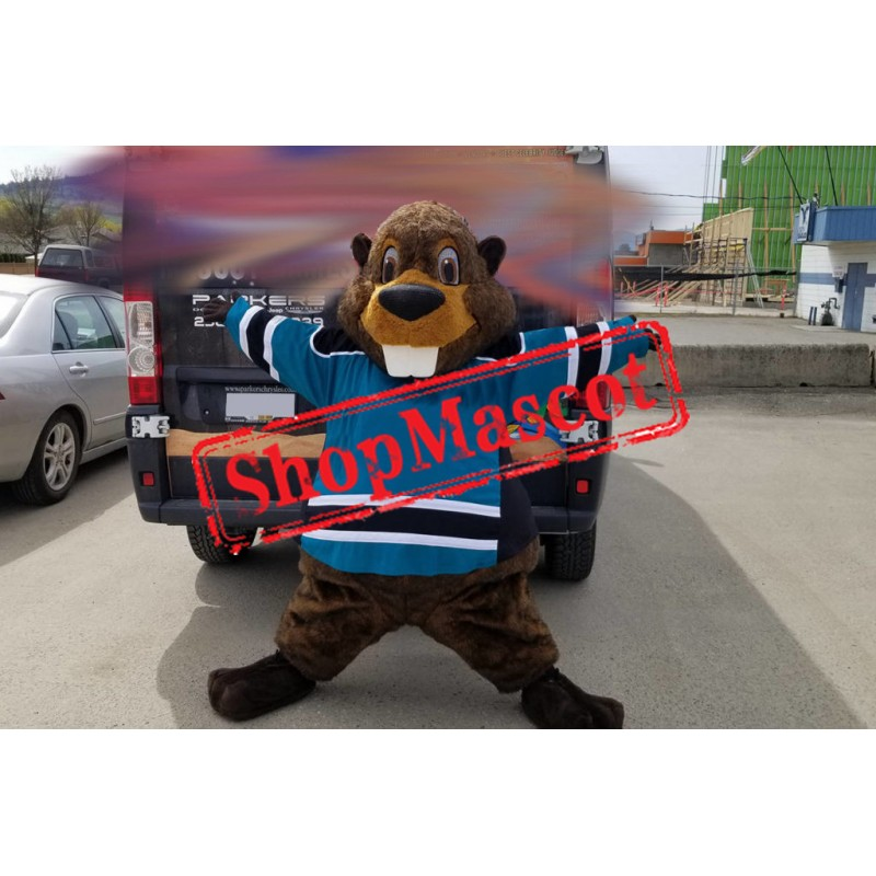 Happy Animal Beaver Mascot Costume