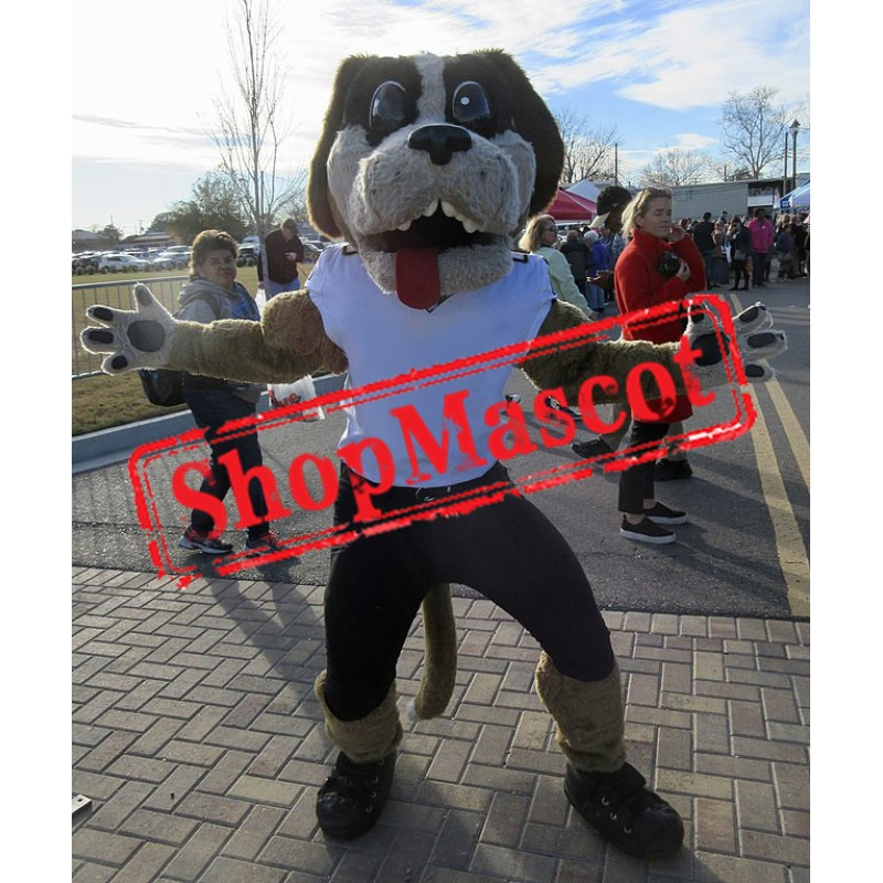 Power Sport College Dog Mascot Costume