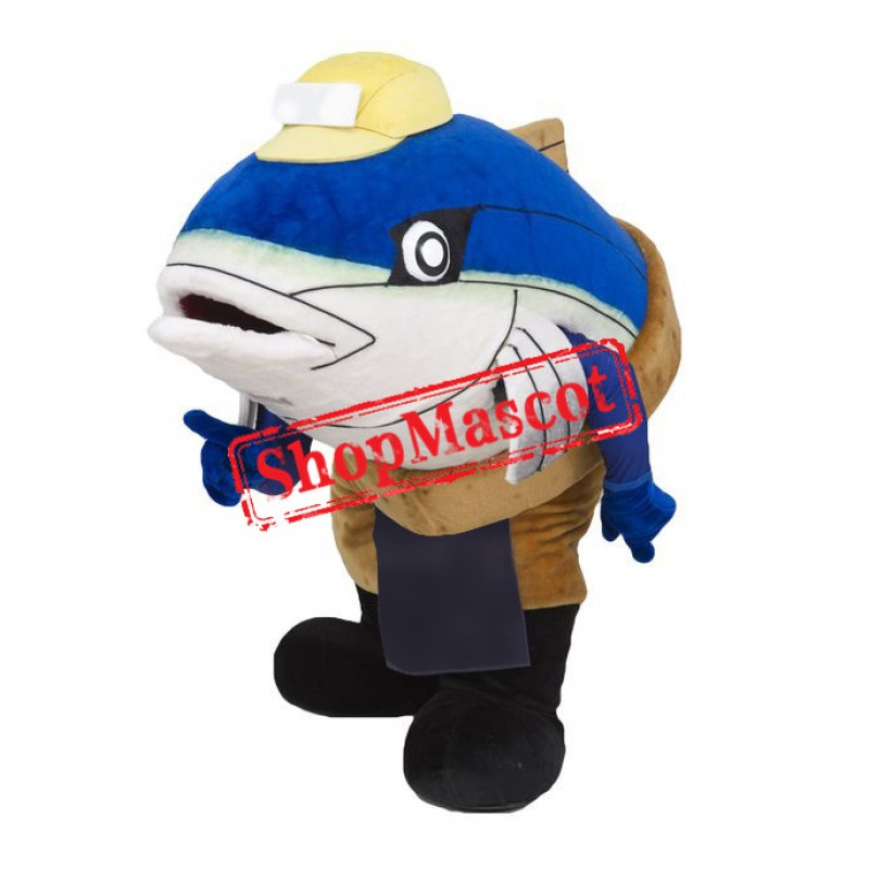 Affordable Blue Fish Mascot Costume