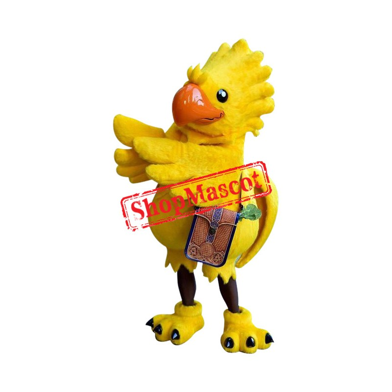 Superb Yellow Parrot Mascot Costume