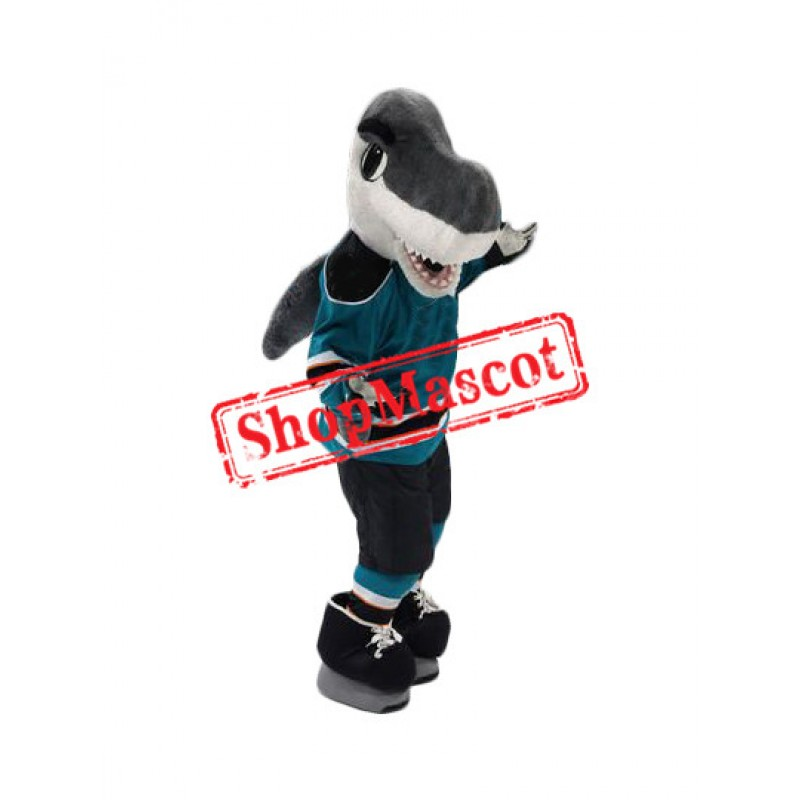 Friendly Sport Shark Mascot Costume