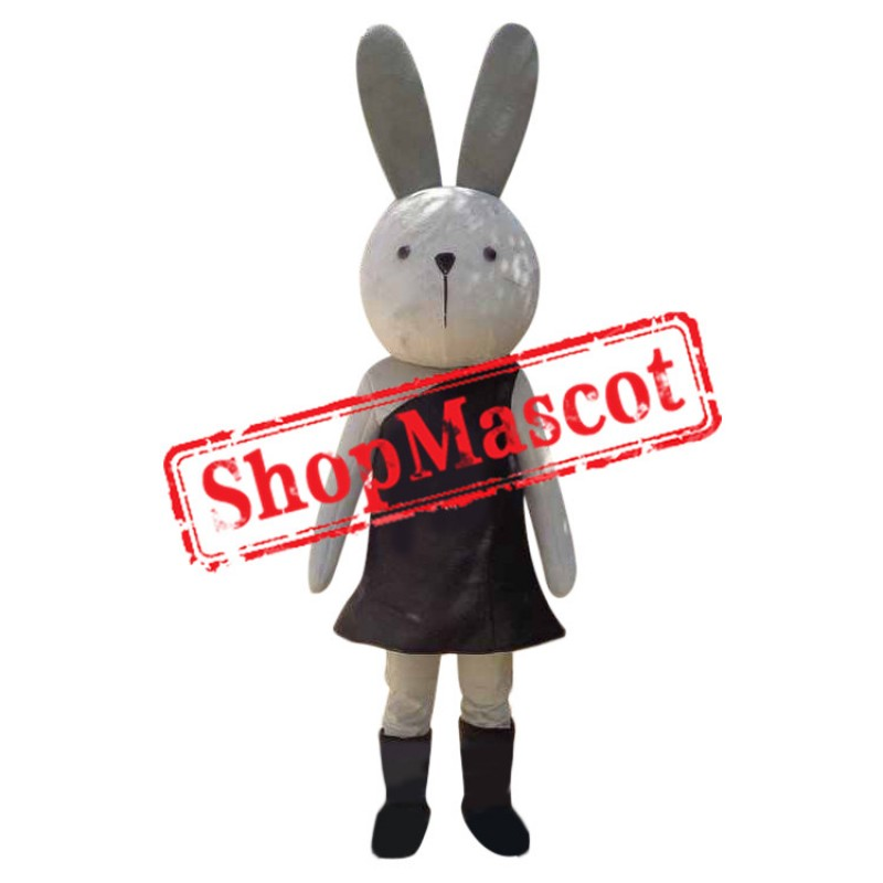 Funny White Rabbit Mascot Costume