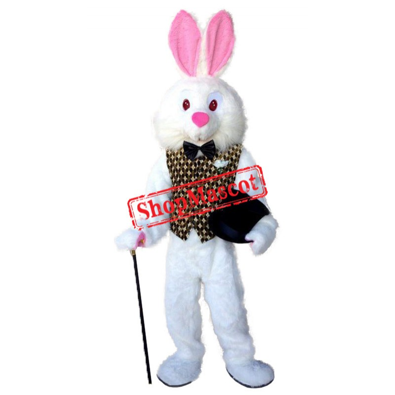 Red Eye Easter Bunny Mascot Costume