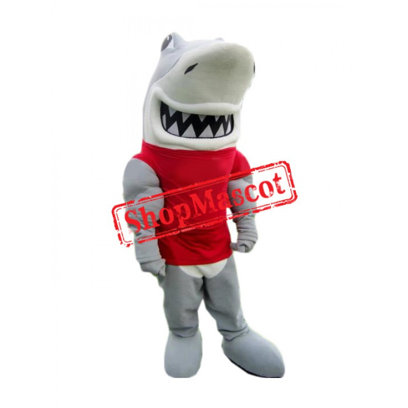 Power Muscle Shark Mascot Costume
