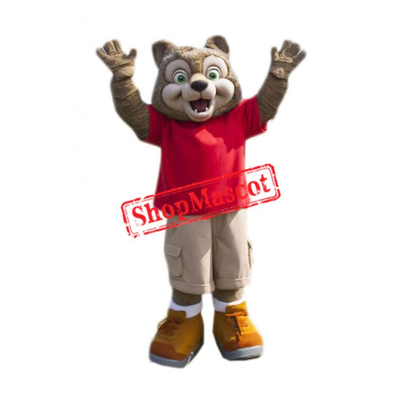 Superb Wiley the Wolf Mascot Costume