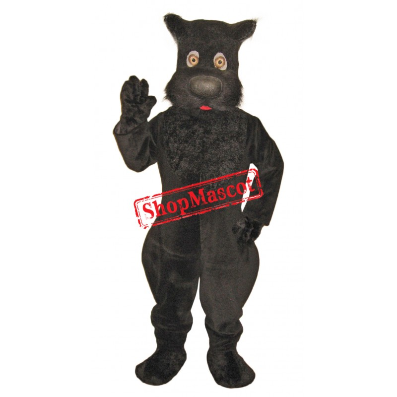 Superb Cute Black Dog Mascot Costume