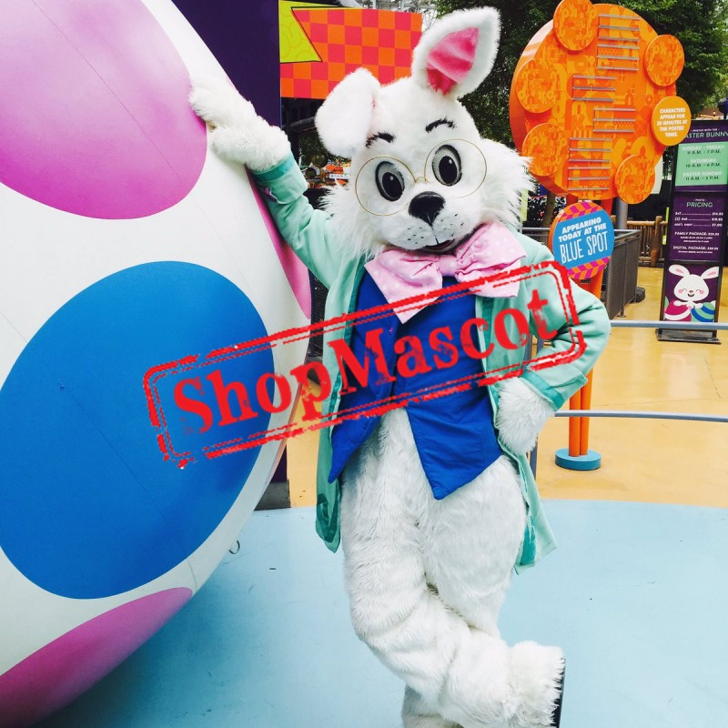 Green Easter Wendell Rabbit Mascot Costume