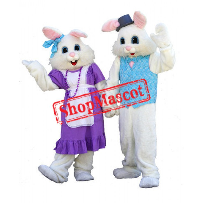Lovely Mr & Mrs Bunny Mascot Costume