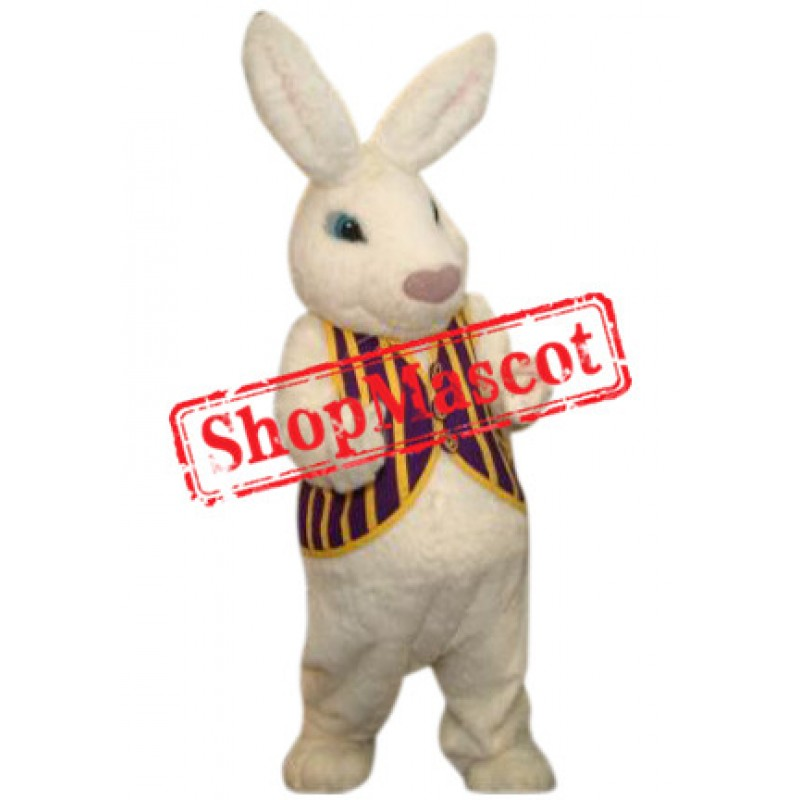 Superb White Easter Bunny Mascot Costume