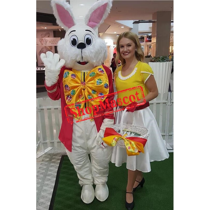 Red Wendell Rabbit Mascot Costume