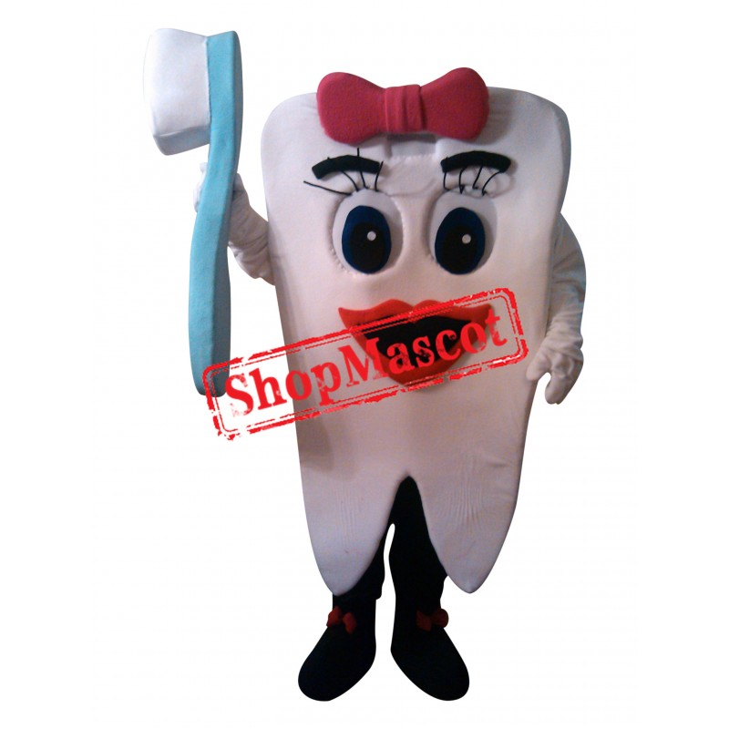 Teeth And Toothbrushes Mascot Costume
