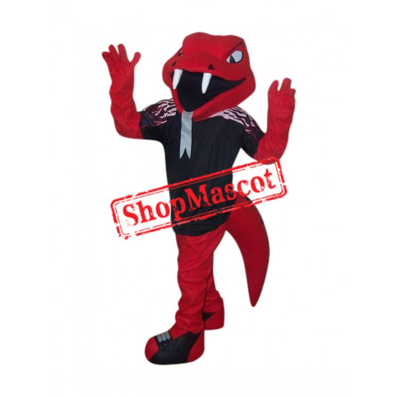 College Red Cobra Mascot Costume