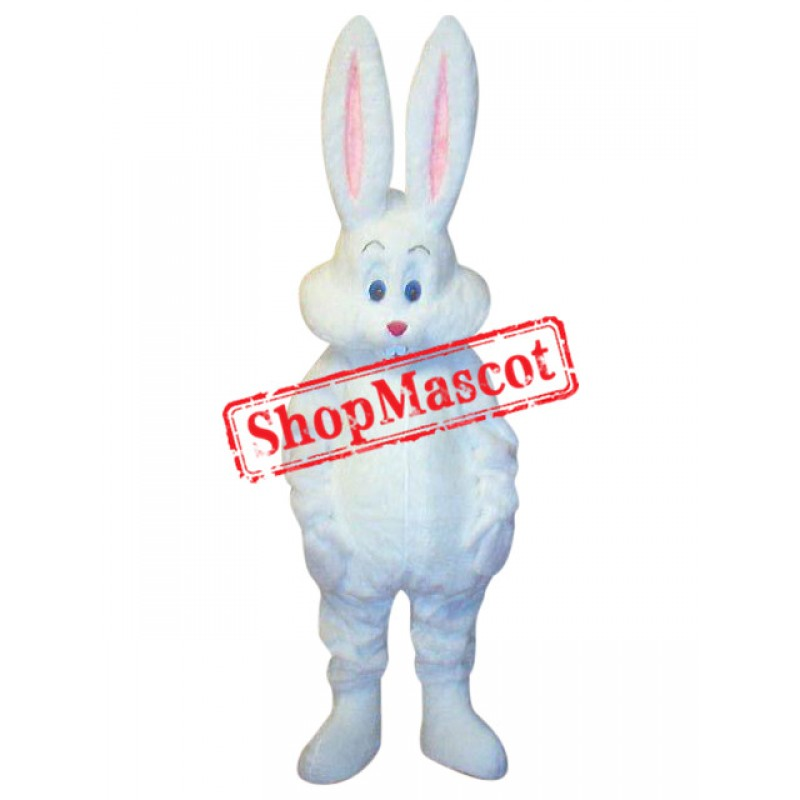 Superb Cute White Easter Bunny Rabbit Mascot Costume