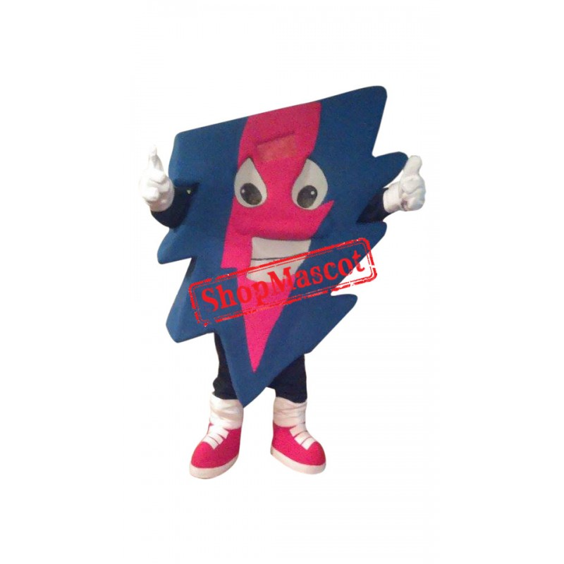 Happy Colorful Lightning Mascot Costume