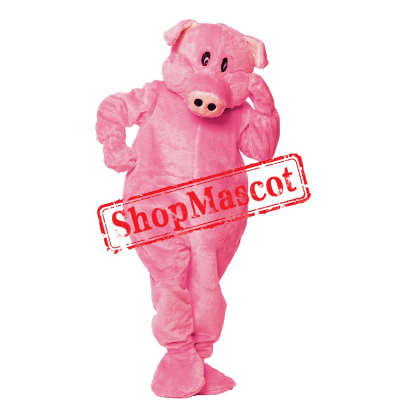 Superb Pink Pig Mascot Costume