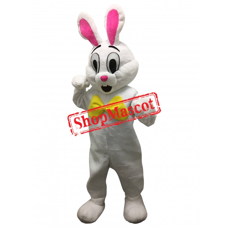 Affordable Happy White Rabbit Mascot Costume