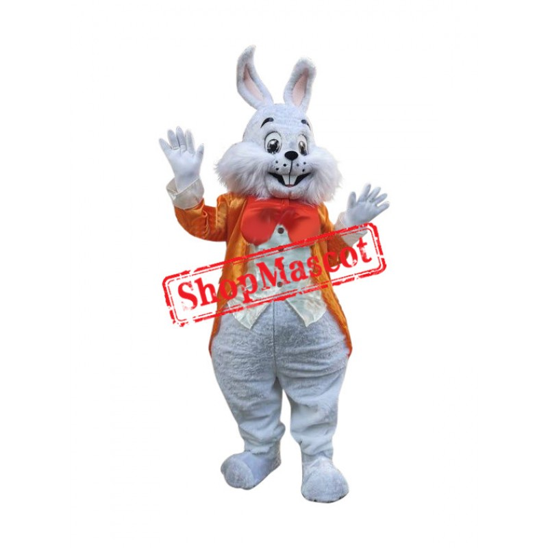 Orange Suit Easter Bunny Mascot Costume