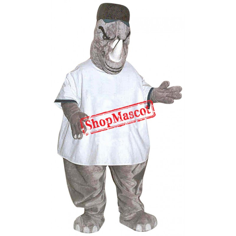 Superb Fierce Rhino Mascot Costume