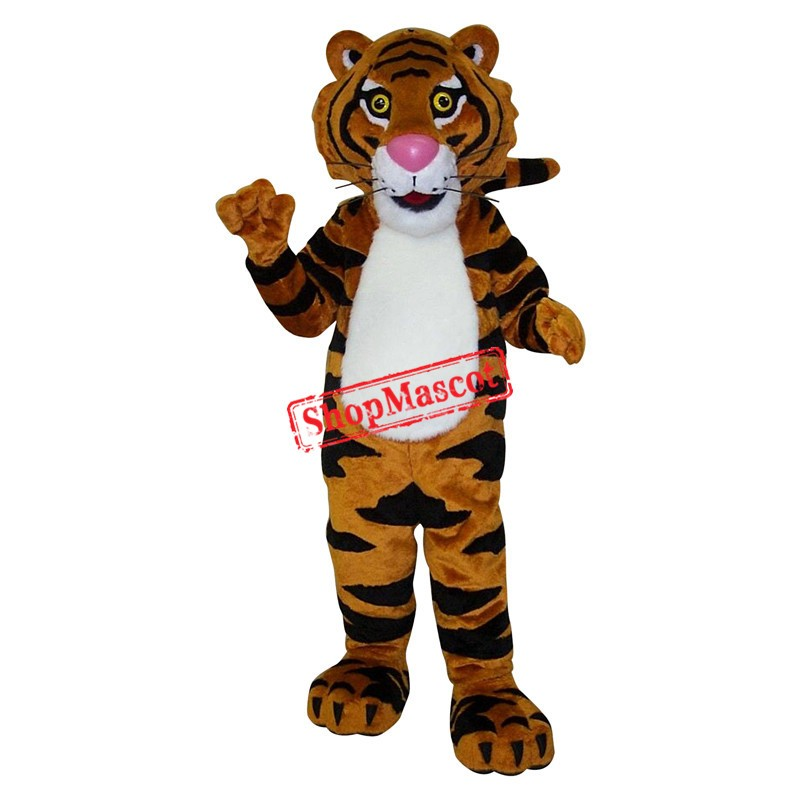 Superb Friendly Tiger Mascot Costume