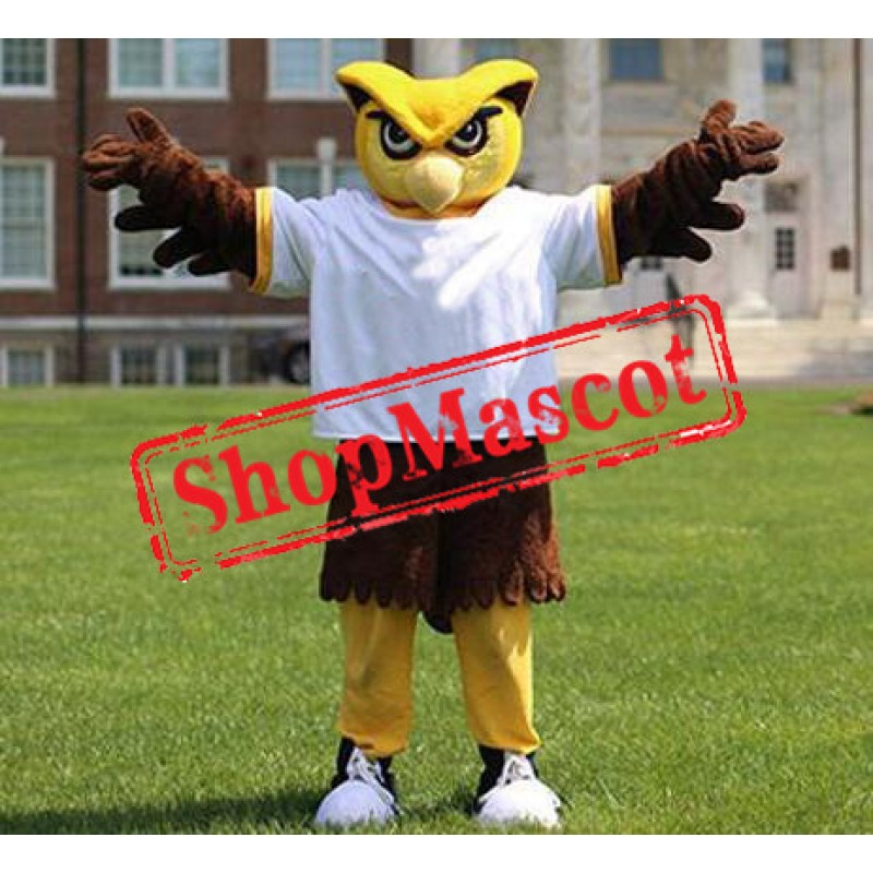 College Yellow Owl Mascot Costume