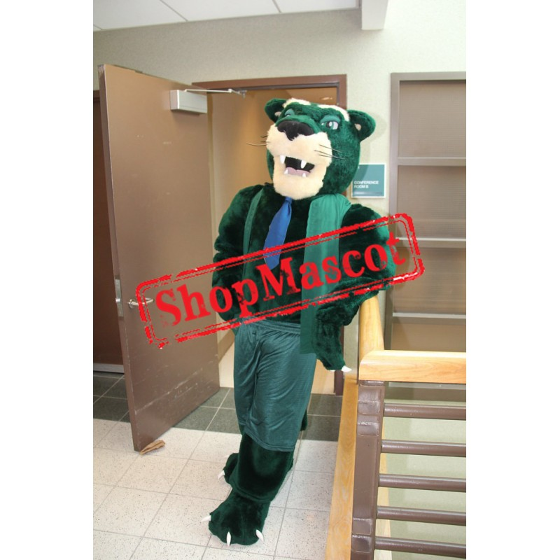 Green Panther Mascot Costume