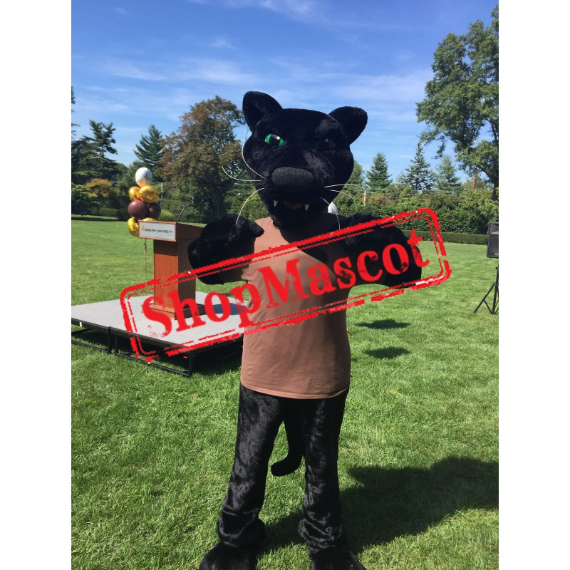 Superb Sport Black Panther Mascot Costume