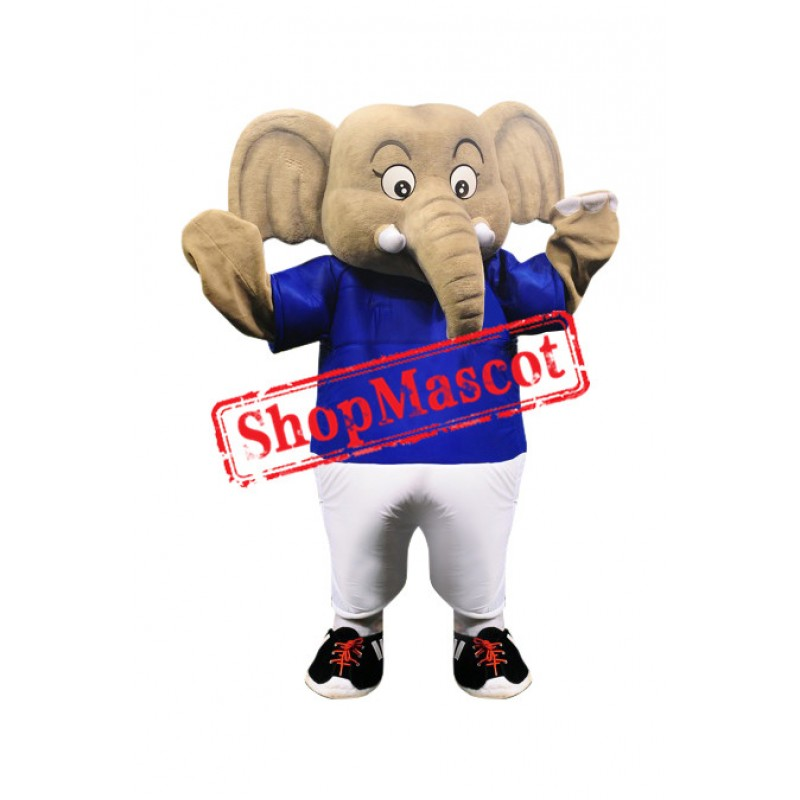 Superb Sport Elephant Mascot Costume