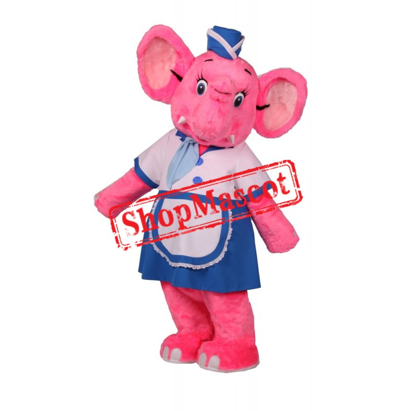 Beautiful Pink Elephant Mascot Costume