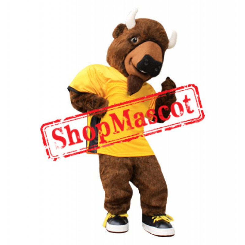 Power Sport Buffalo Mascot Costume
