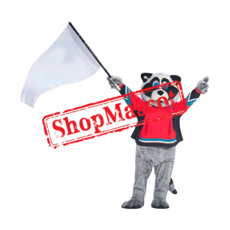 Power Sport Raccoon Mascot Costume