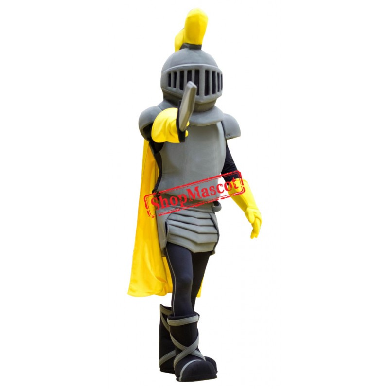 Power Grey Knight Mascot Costume