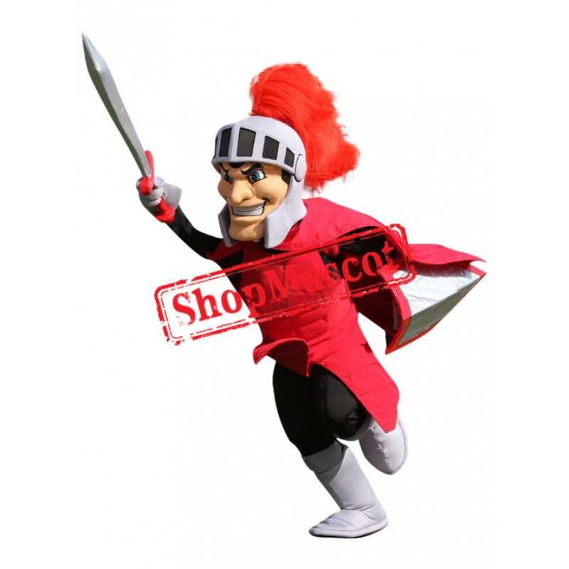 Power Red Spartan Knight Mascot Costume
