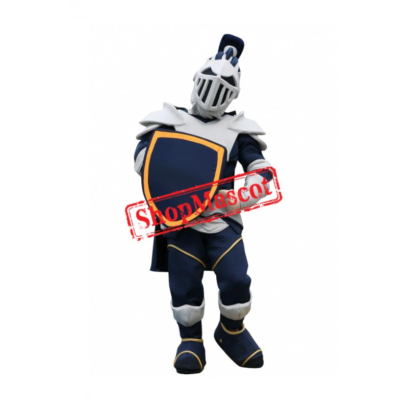Superb Blue & White Knight Mascot Costume